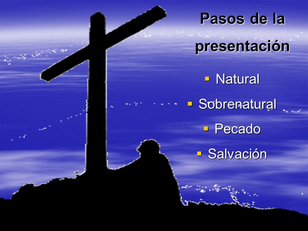Pasos de la presentación Natural Natural Sobrenatural Sobrenatural Pecado Pecado Salvación Salvación