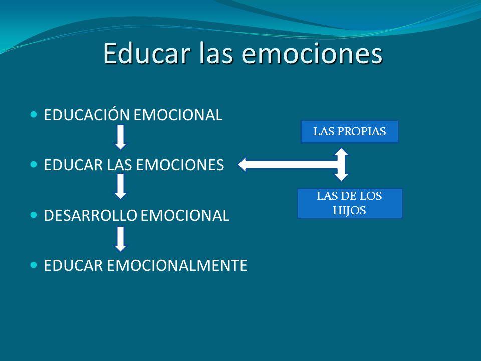 Educar las emociones EDUCACIÓN EMOCIONAL EDUCAR LAS EMOCIONES DESARROLLO EMOCIONAL EDUCAR EMOCIONALMENTE LAS PROPIAS LAS DE LOS HIJOS
