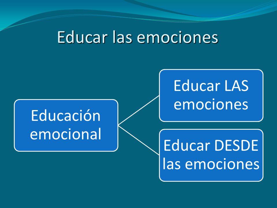 Educar las emociones Educación emocional Educar LAS emociones Educar DESDE las emociones