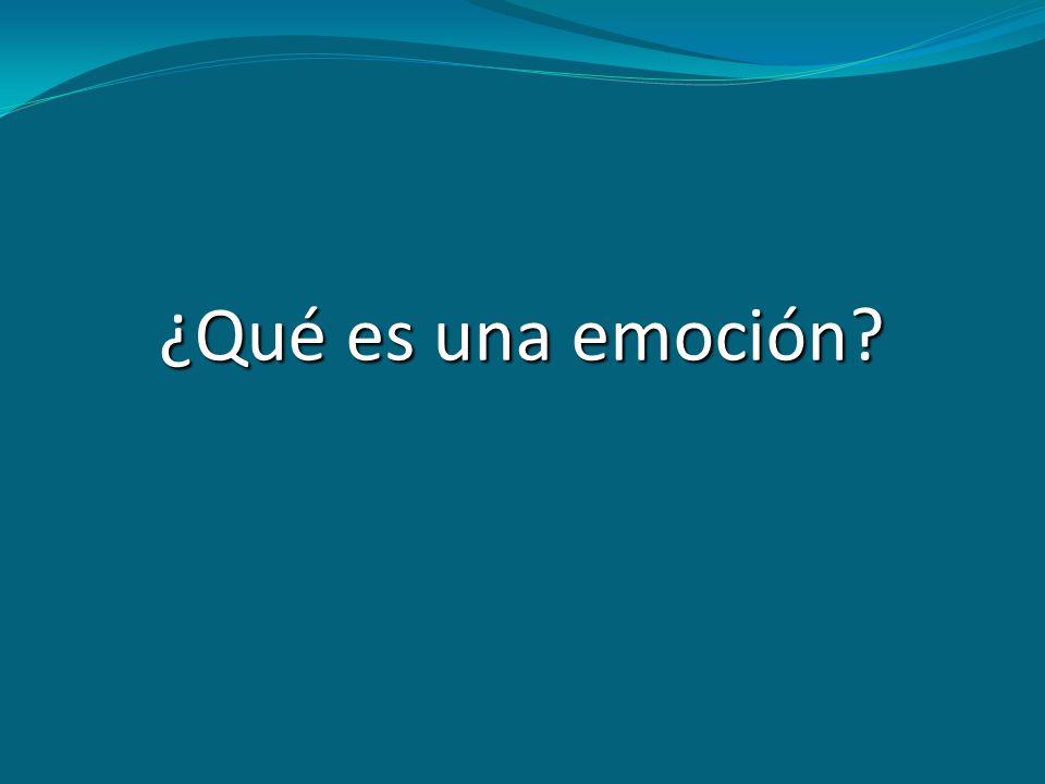 ¿Qué es una emoción?