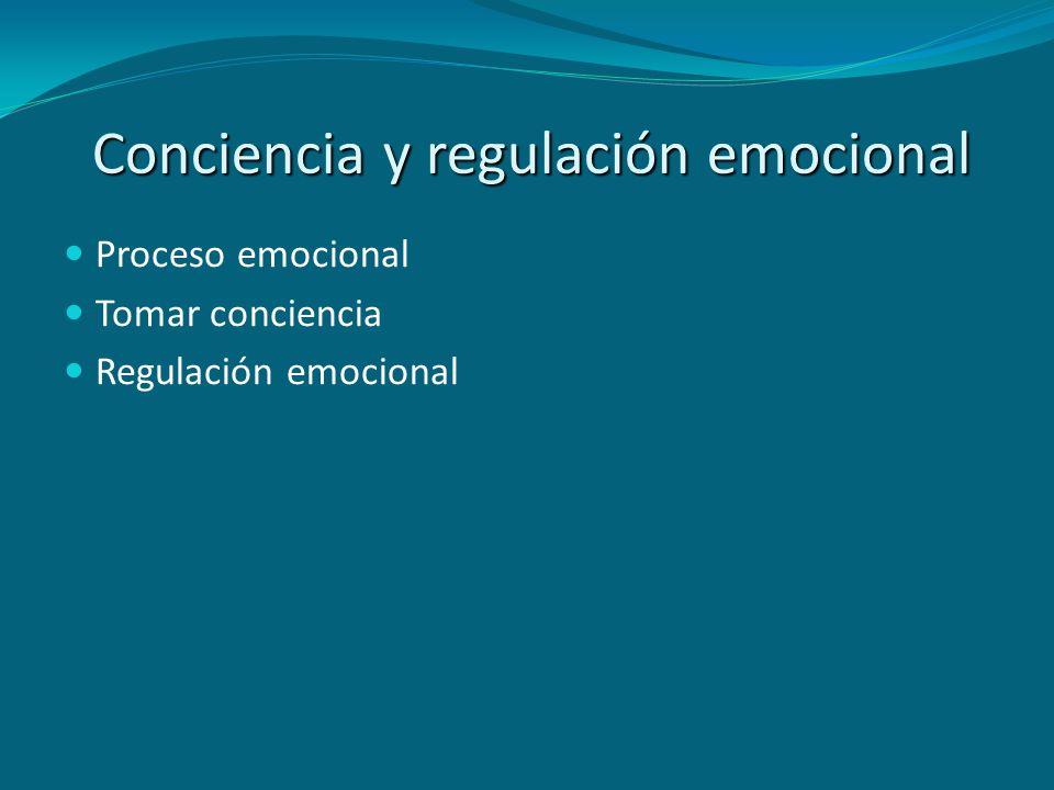 Proceso emocional Tomar conciencia Regulación emocional