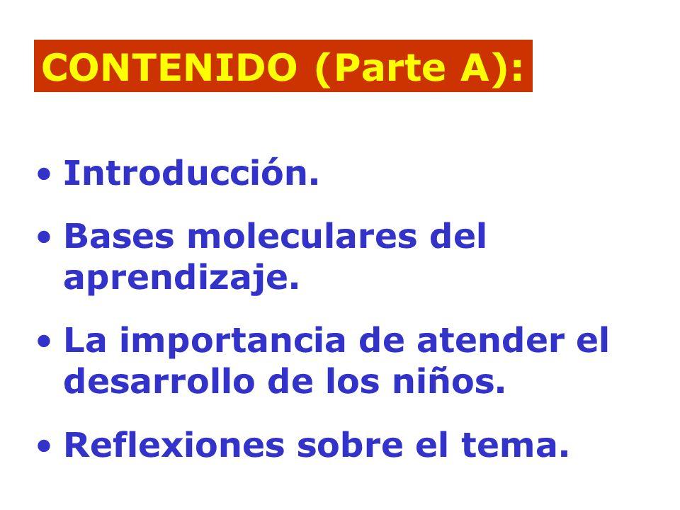 Introducción.Bases moleculares del aprendizaje.