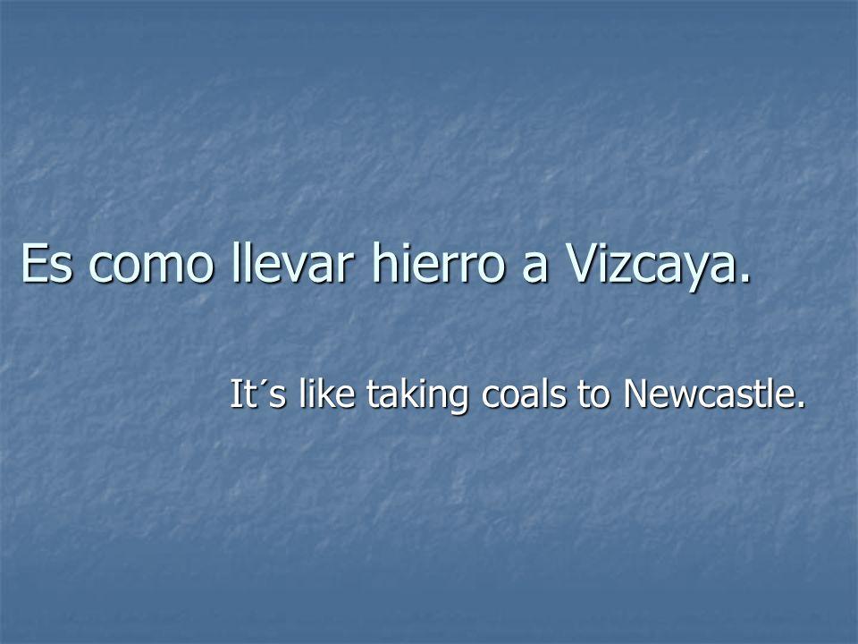 Es como llevar hierro a Vizcaya. It´s like taking coals to Newcastle.