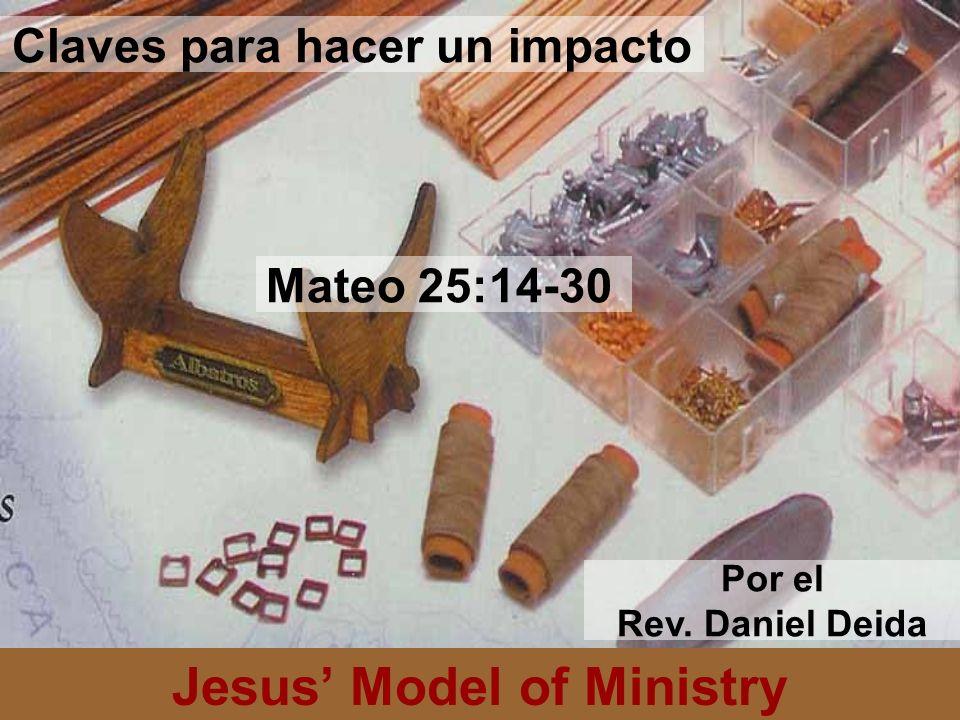 Jesus Model of Ministry en vez del tamano de las habilidades (25:14-18) Enfoque en el tamano de la vision