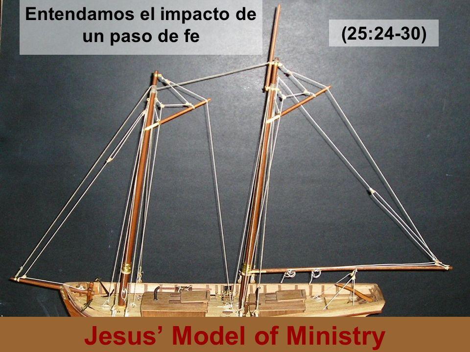 Jesus Model of Ministry Entendamos el impacto de un paso de fe (25:24-30)