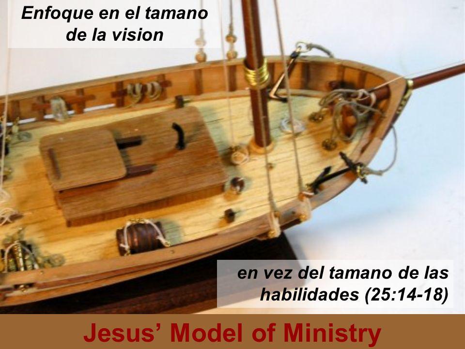 Jesus Model of Ministry Cada uno de las tres personas se le dio una medida de talentos.