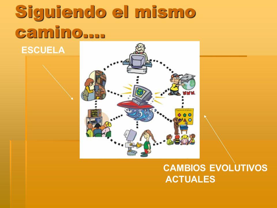 Siguiendo el mismo camino…. ESCUELA CAMBIOS EVOLUTIVOS ACTUALES