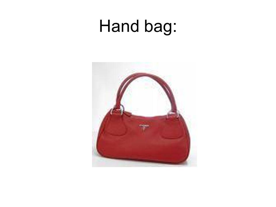Hand bag: