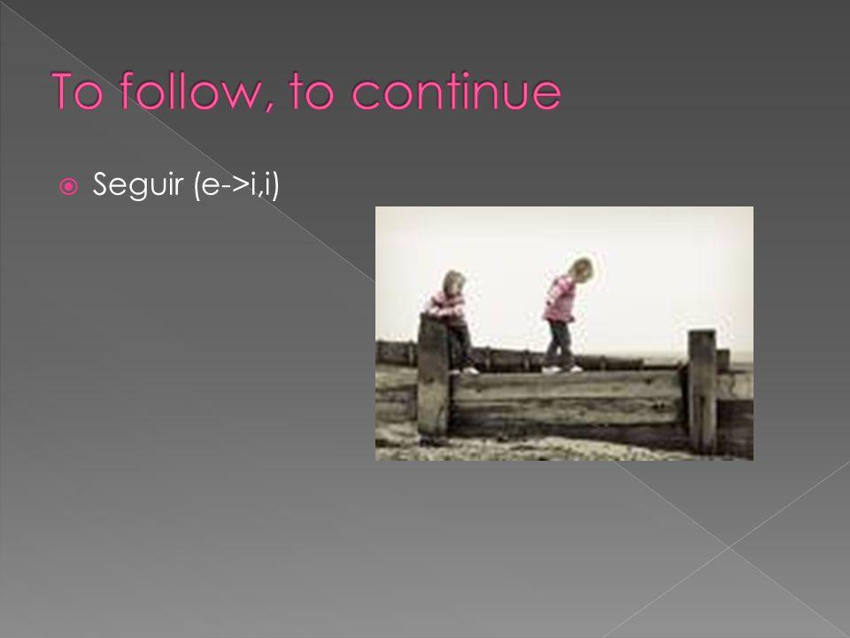 Seguir (e->i,i)