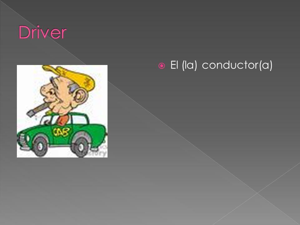 El (la) conductor(a)