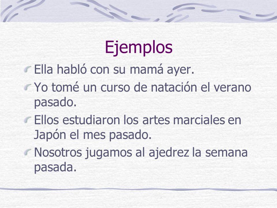 endings for –er & -ir verbs escribíescribimos escribisteescribisteis escribióescribieron