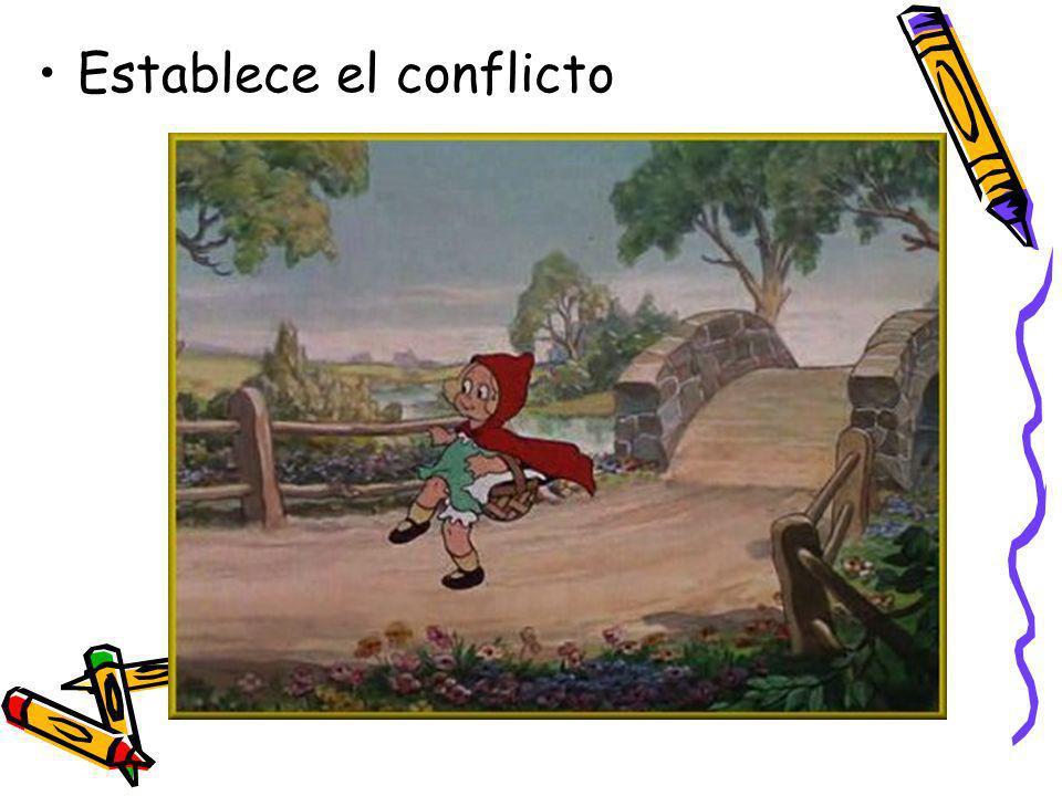 conflicto El núcleo del cuento / novela Lucha entre fuerzas o personajes contrarios 2 tipos –Conflicto externo –Conflicto interno