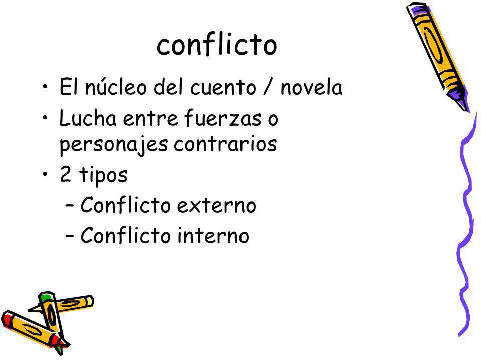 Conflicto externo (ejemplo: cuento)