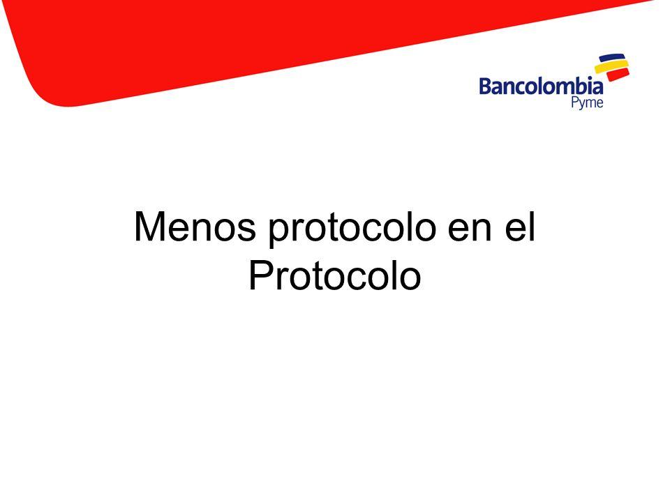 Menos protocolo en el Protocolo