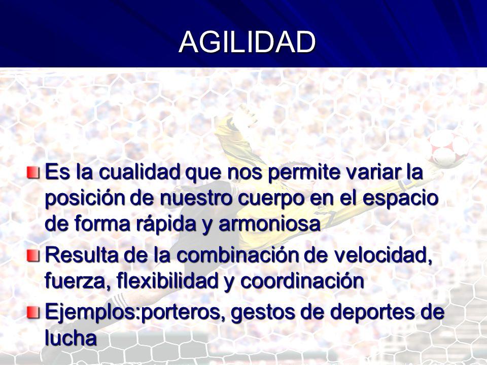 CUALIDADES FÍSICAS MIXTAS Son aquellas que resultan de la combinación de algunas de las cualidades físicas básicas: AgilidadPotencia