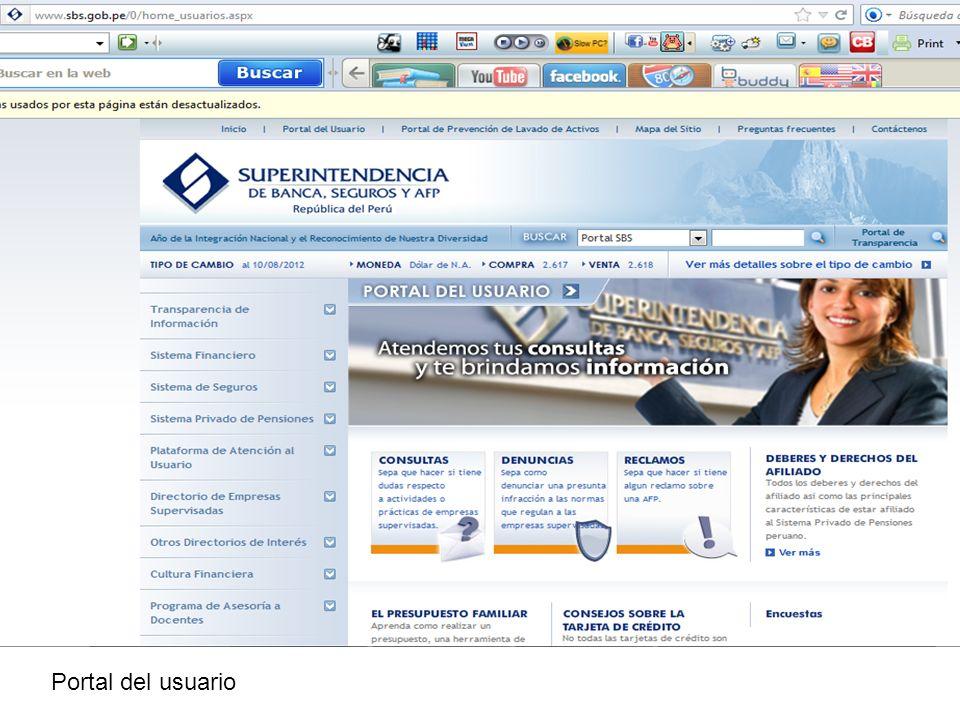Portal del usuario