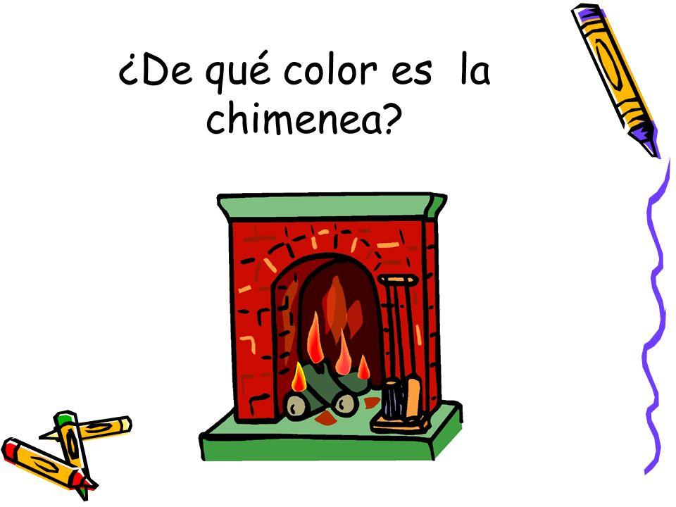 ¿De qué color es la chimenea?