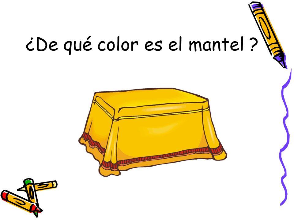 ¿De qué color es el mantel ?