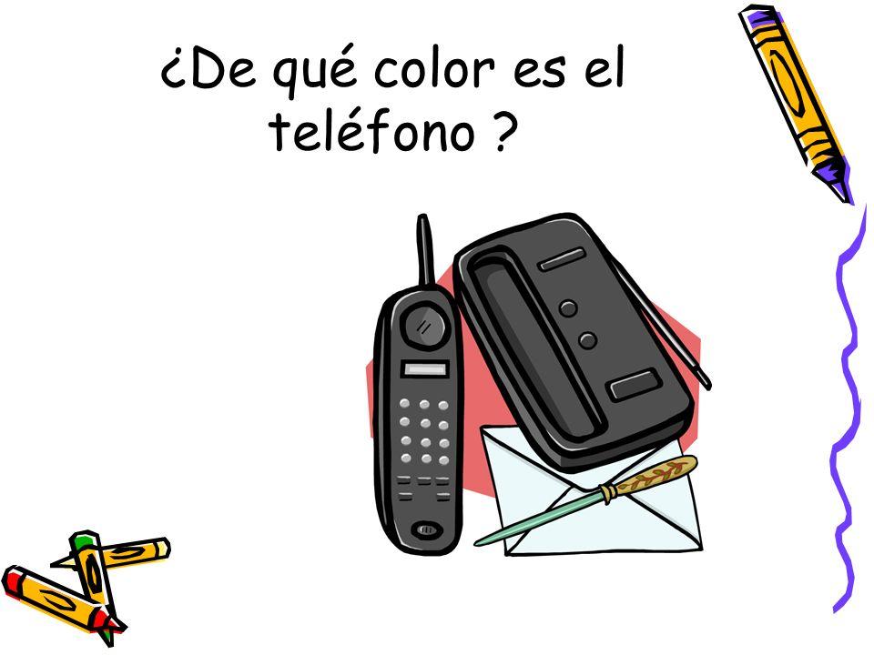 ¿De qué color es el teléfono ?