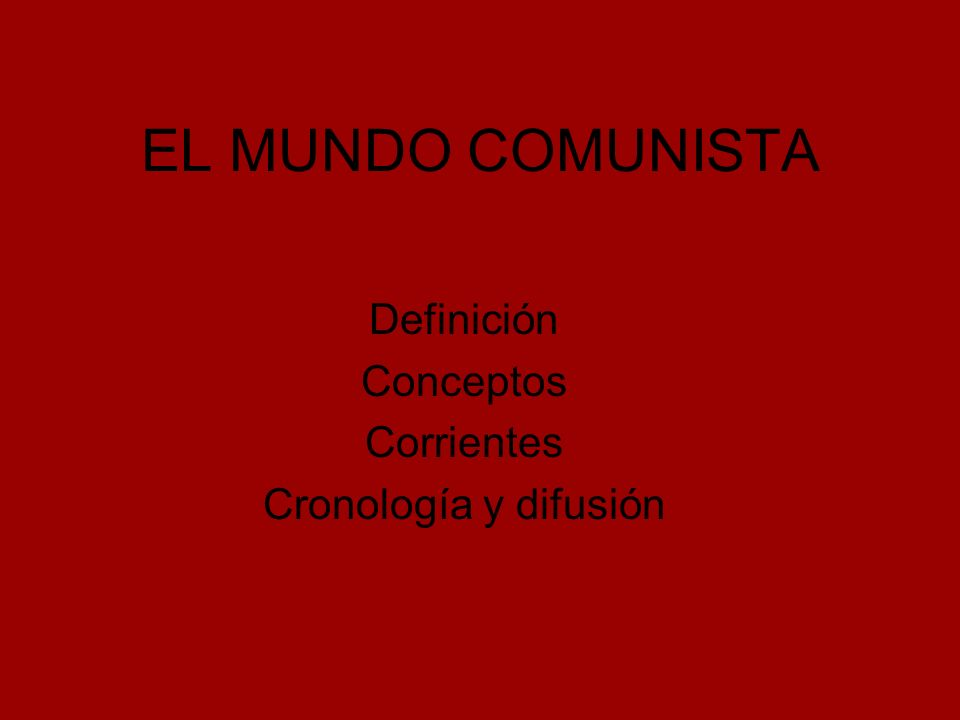 Definición El comunismo es un movimiento político cuyos principales objetivos son el establecimiento de una sociedad sin clases sociales, basado en la propiedad social de los medios de producción, la abolición de la propiedad privada de los mismos, y busca llevar a la clase trabajadora al poder, logrando así la abolición del Estado al asumir la clase trabajadora todas sus funciones.