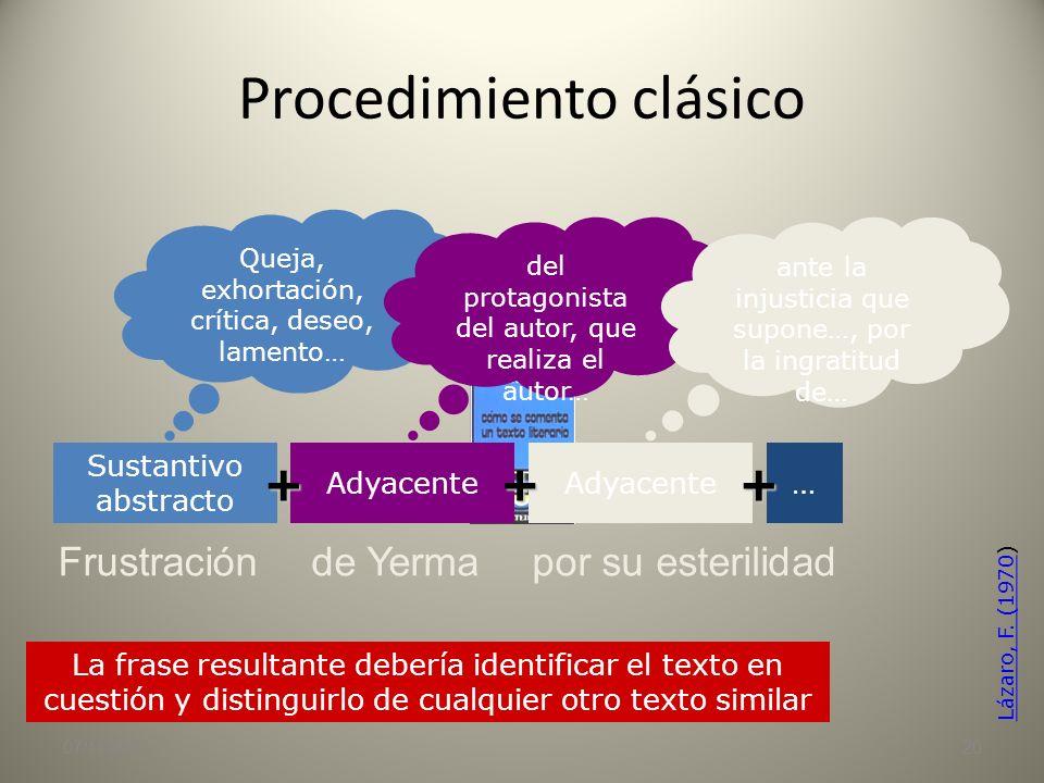 Tema / tesis 07/11/201319 En muchos textos, especialmente humanísticos de tipo argumentativo, el tema suele coincidir con la tesis que se pretende dem