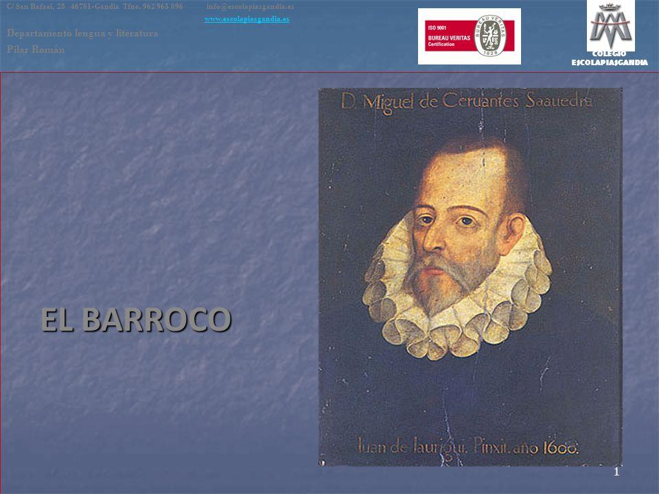COLEGIO ESCOLAPIASGANDIA EL BARROCO C/ San Rafael, 25 46701-Gandia Tfno. 962 965 096 info@escolapiasgandia.es www.escolapiasgandia.es Departamento len