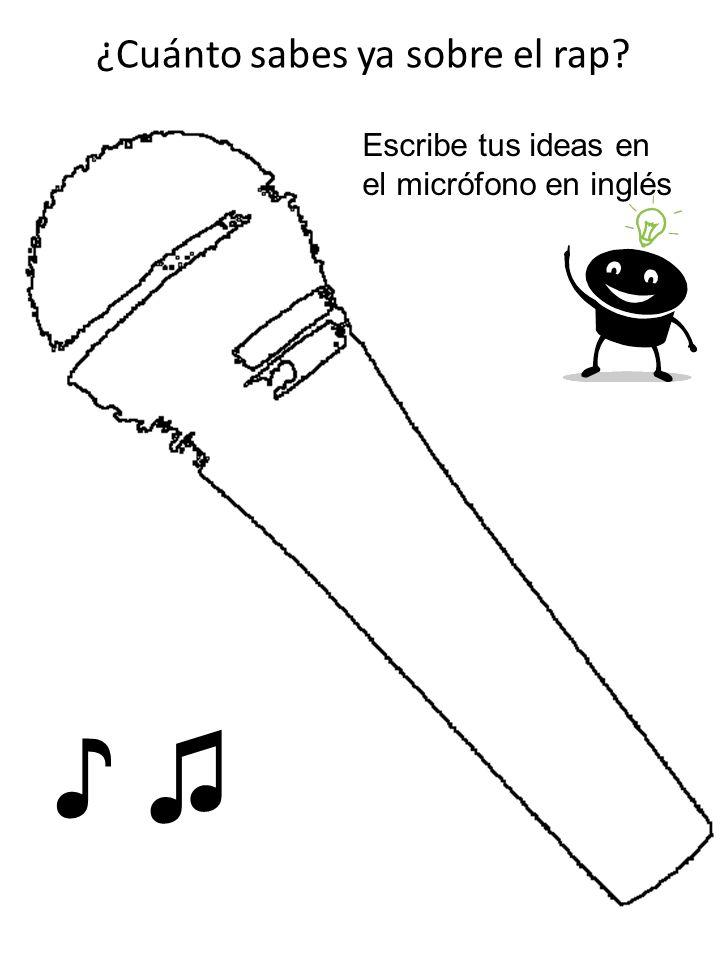 ¿Cuánto sabes ya sobre el rap? Escribe tus ideas en el micrófono en inglés