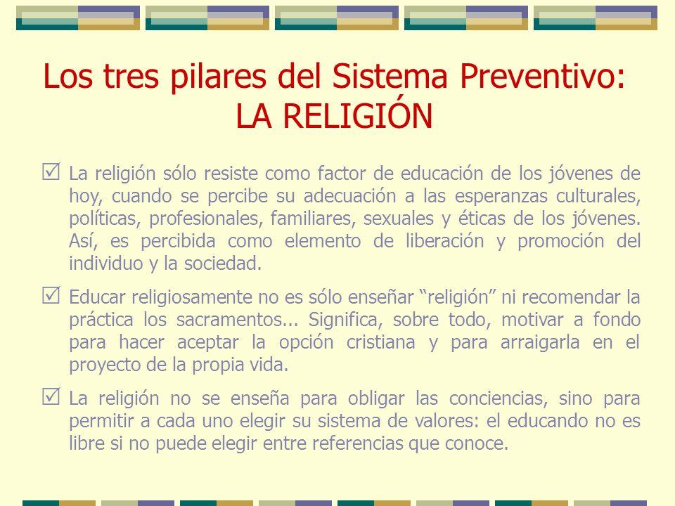 La religión sólo resiste como factor de educación de los jóvenes de hoy, cuando se percibe su adecuación a las esperanzas culturales, políticas, profe
