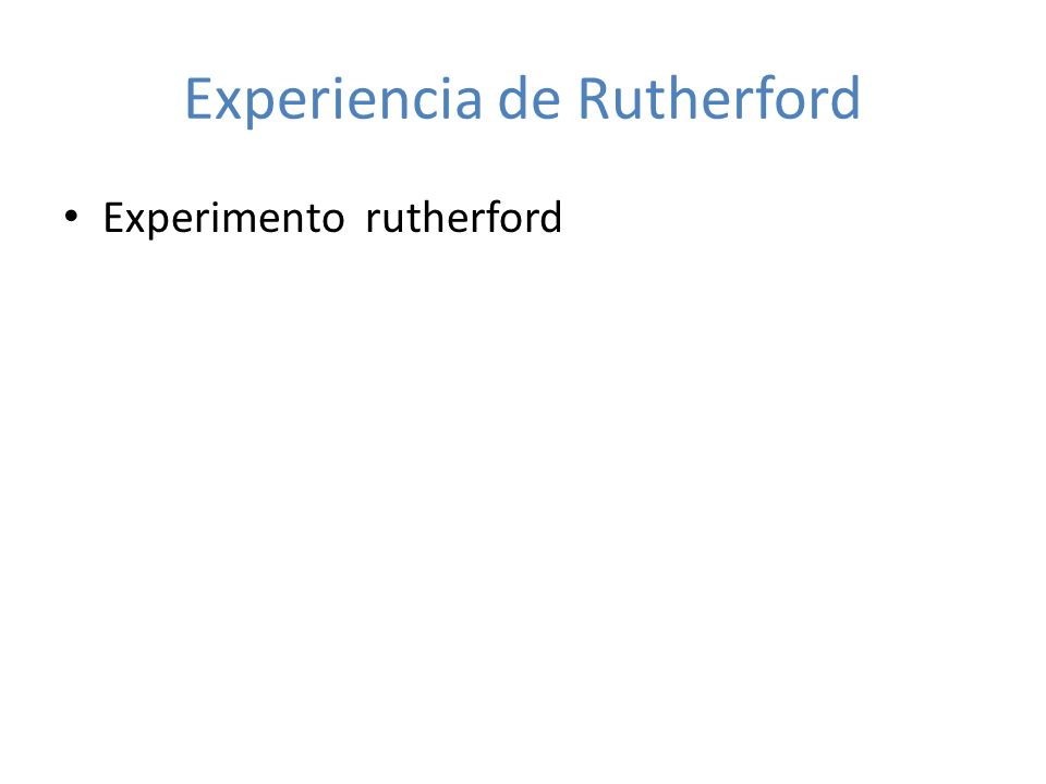 Experimento rutherford