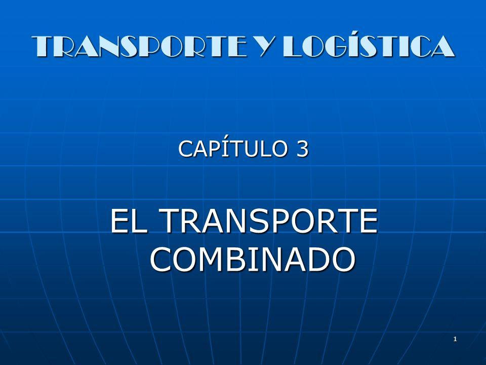 1 TRANSPORTE Y LOGÍSTICA CAPÍTULO 3 EL TRANSPORTE COMBINADO