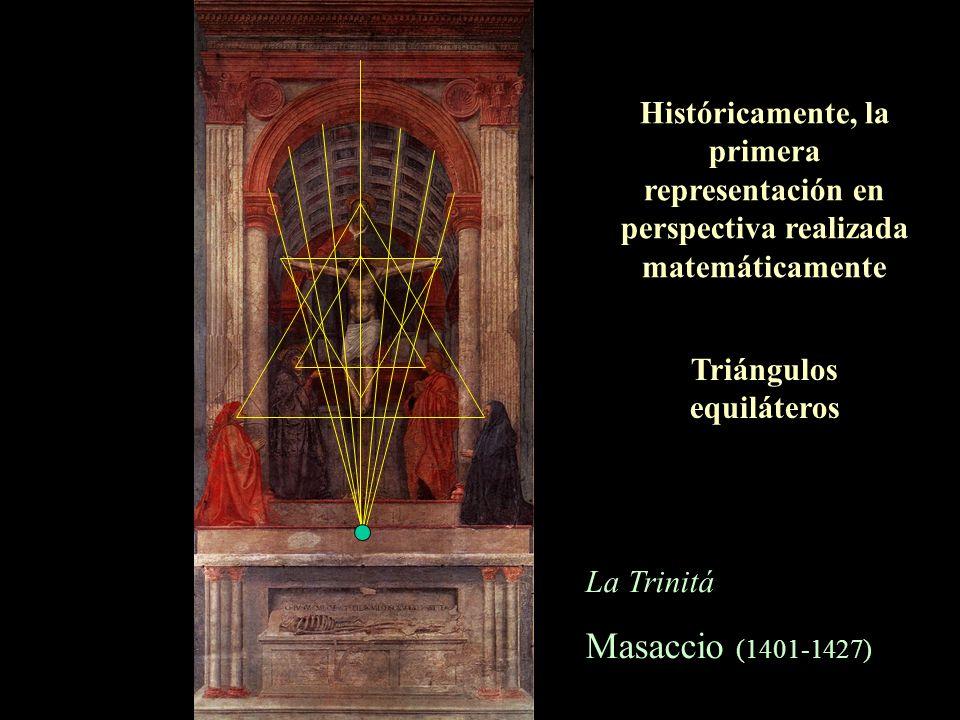 La Trinitá Masaccio (1401-1427) Tres planos Simetría y alternancia en los colores