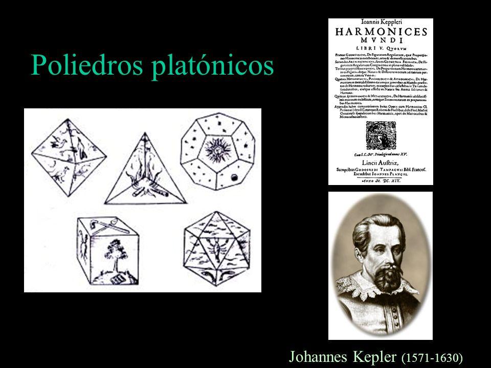 Poliedros platónicos Johannes Kepler (1571-1630)