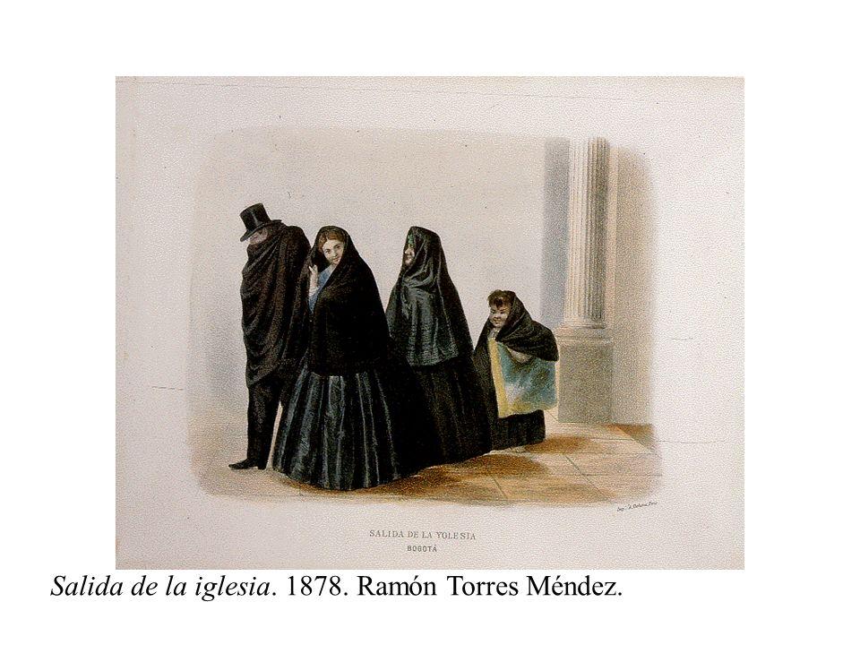 Salida de la iglesia. 1878. Ramón Torres Méndez.