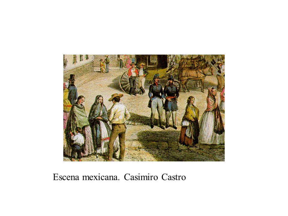 Escena mexicana. Casimiro Castro
