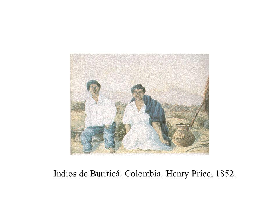 Indios de Buriticá. Colombia. Henry Price, 1852.
