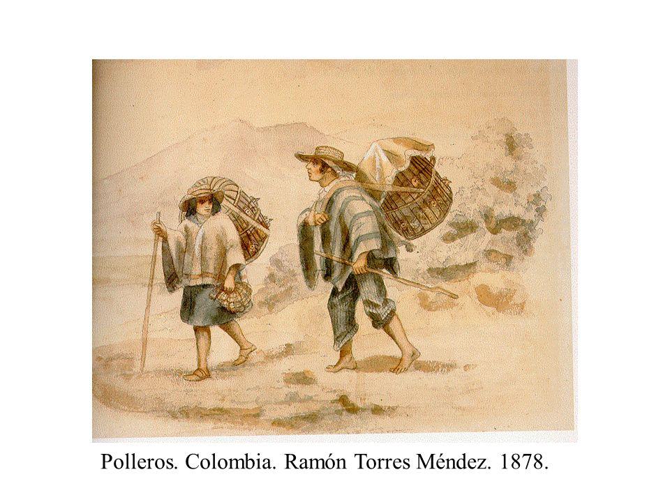 Polleros. Colombia. Ramón Torres Méndez. 1878.