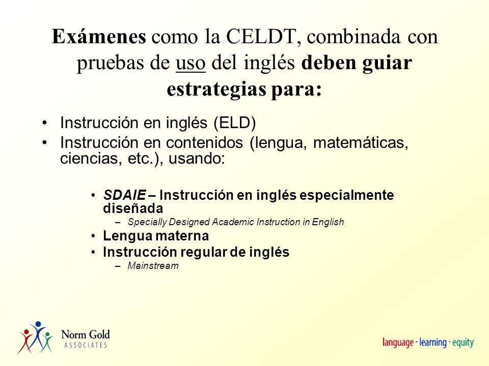 Estándares de ELD Precursor o on-ramp (rampa) para llegar a los estándares de ELA (artes de lengua inglesa).