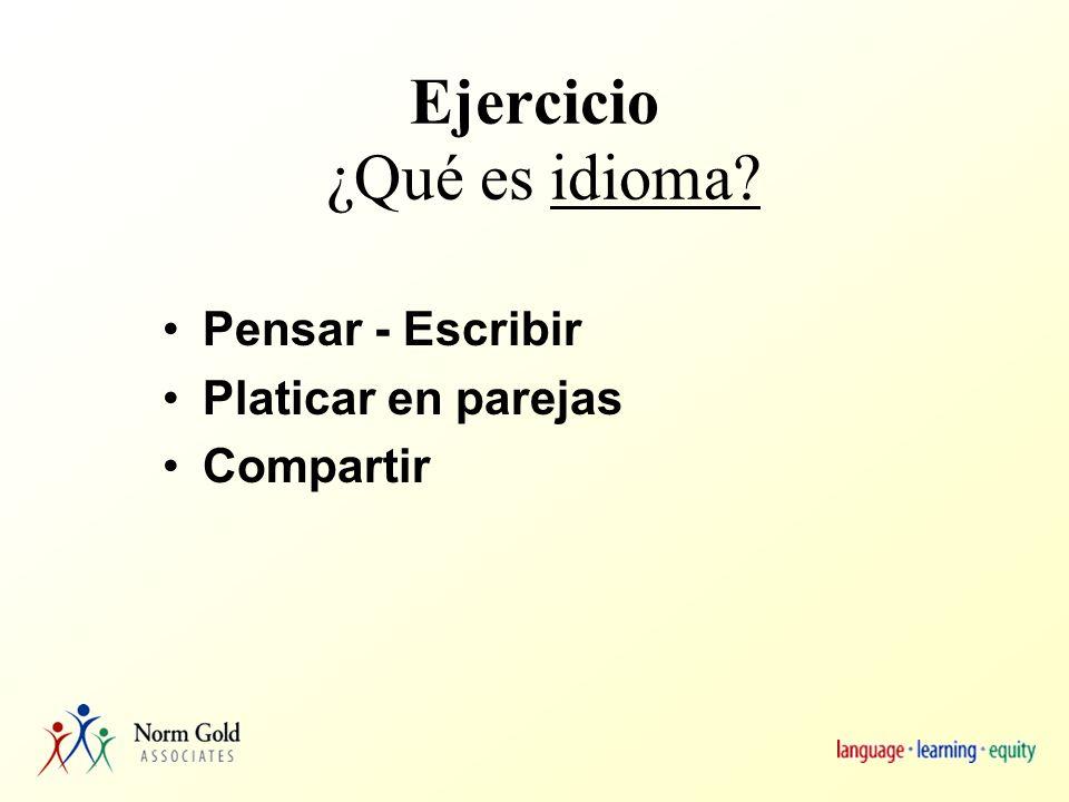 Agenda Estudiantes LEP o English Learners (ELs) – Alumnos aprendices de inglés Idioma o lengua: ¿Qué es.