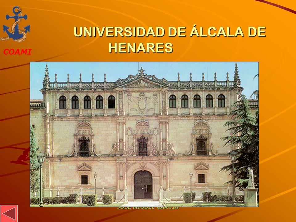 COAMI JOSÉ MIGUEL GARCÍA UNIVERSIDAD DE ÁLCALA DE HENARES UNIVERSIDAD DE ÁLCALA DE HENARES