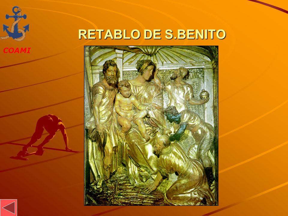 COAMI JOSÉ MIGUEL GARCÍA RETABLO DE S.BENITO RETABLO DE S.BENITO