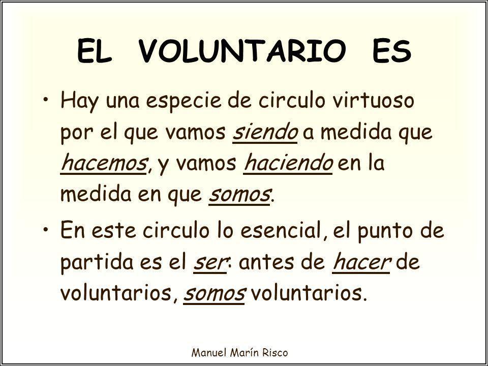 Manuel Marín Risco Labor de sensibilización social.
