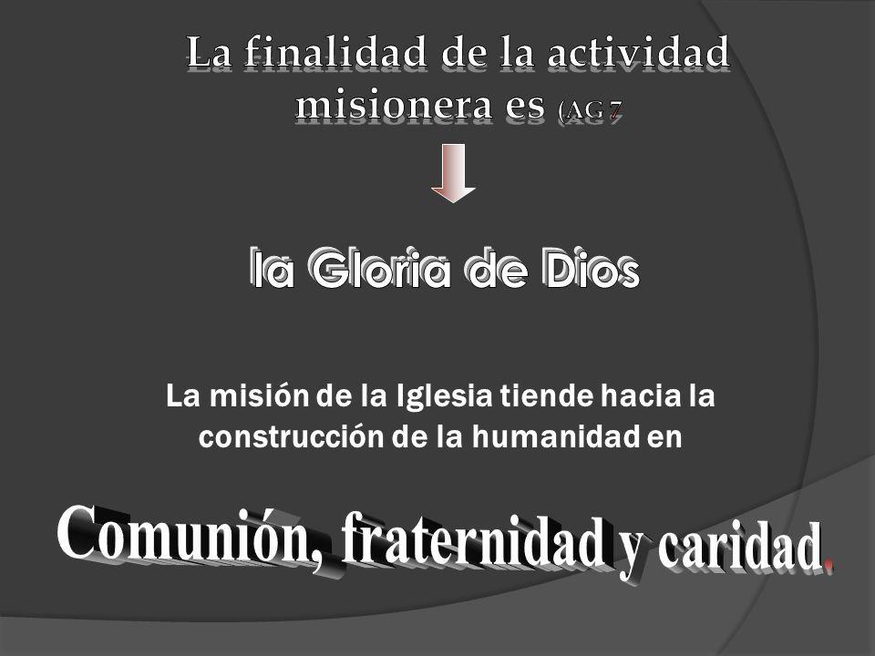 La misión de la Iglesia tiende hacia la construcción de la humanidad en