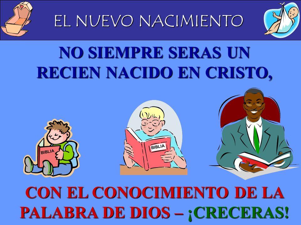 EL NUEVO NACIMIENTO NO SIEMPRE SERAS UN RECIEN NACIDO EN CRISTO, CON EL CONOCIMIENTO DE LA PALABRA DE DIOS – ¡CRECERAS! BIBLIA