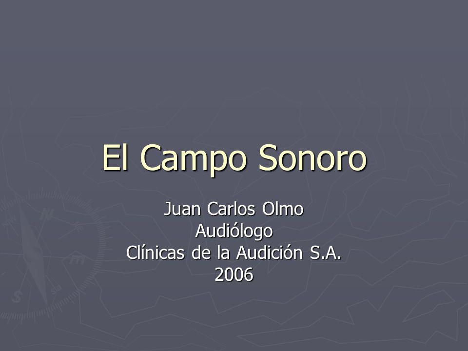 El Campo Sonoro Juan Carlos Olmo Audiólogo Clínicas de la Audición S.A. 2006