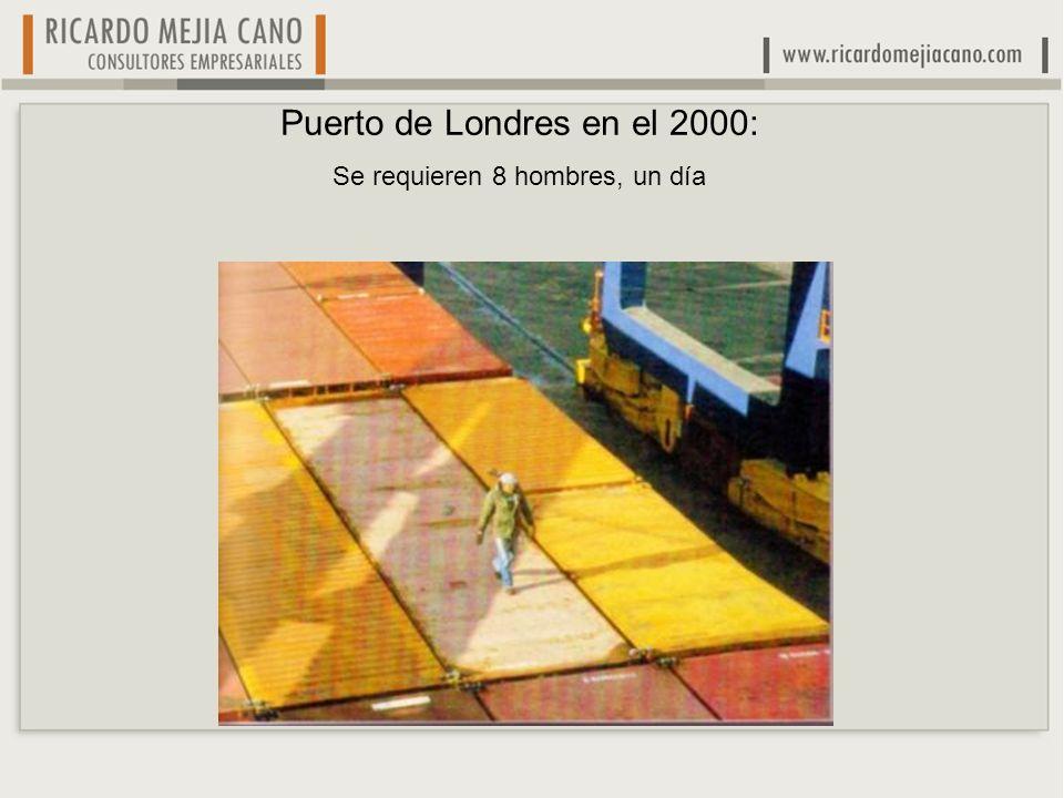 Puerto de Londres en el 2000: Se requieren 8 hombres, un día