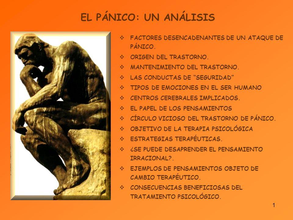 1 EL PÁNICO: UN ANÁLISIS FACTORES DESENCADENANTES DE UN ATAQUE DE PÁNICO.