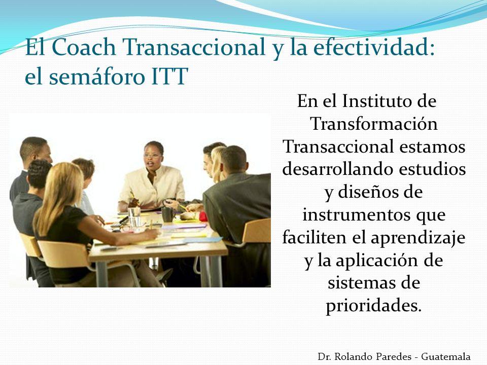 Dr. Rolando Paredes - Guatemala En el Instituto de Transformación Transaccional estamos desarrollando estudios y diseños de instrumentos que faciliten