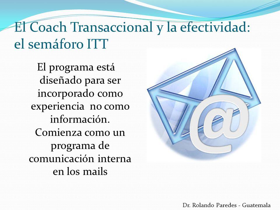 Dr. Rolando Paredes - Guatemala El programa está diseñado para ser incorporado como experiencia no como información. Comienza como un programa de comu