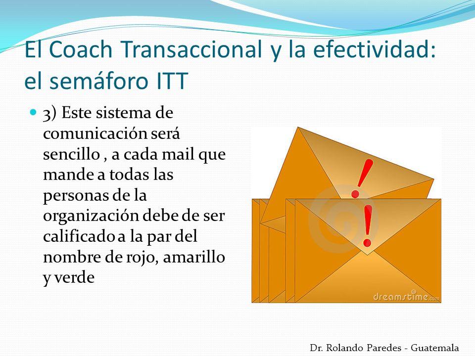 Dr. Rolando Paredes - Guatemala 3) Este sistema de comunicación será sencillo, a cada mail que mande a todas las personas de la organización debe de s