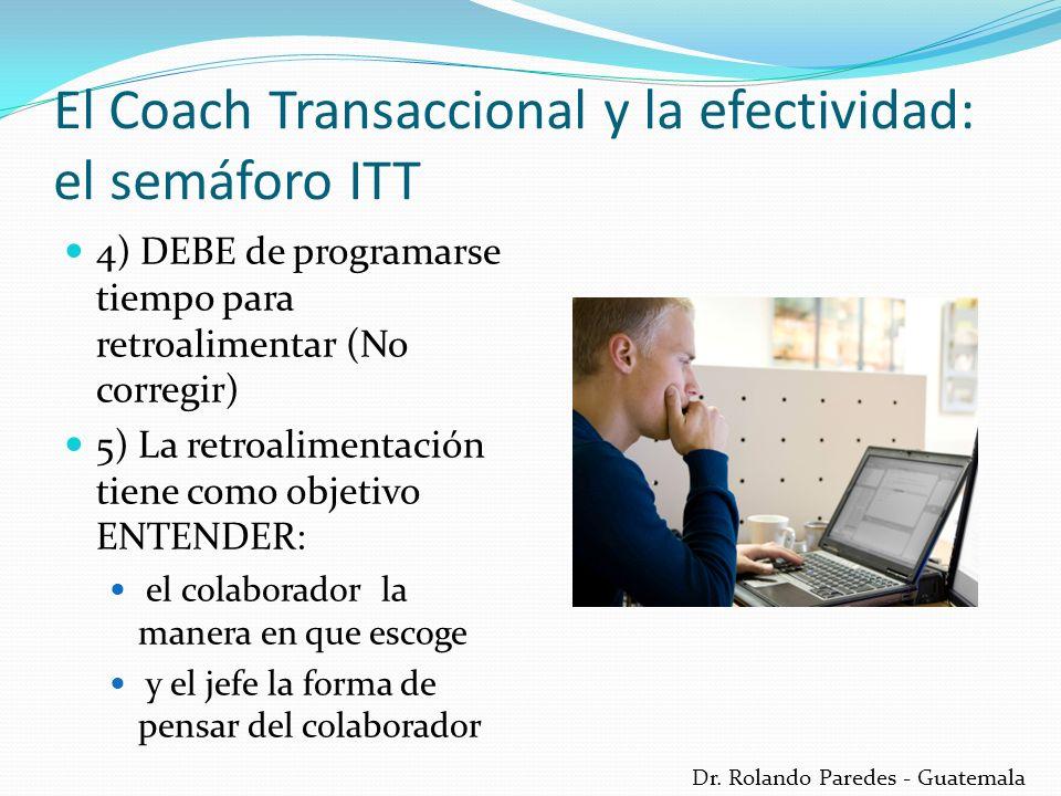 Dr. Rolando Paredes - Guatemala 4) DEBE de programarse tiempo para retroalimentar (No corregir) 5) La retroalimentación tiene como objetivo ENTENDER:
